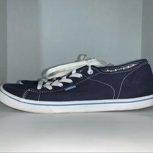 Vans navy blue canvas sneakers low cut